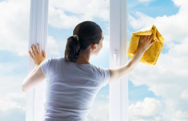 Cleaning House Window